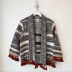 J.Jill  Boho Fringe Tassel Women's Jacket